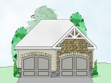 Two-Car Garage Plan, 053G-0017