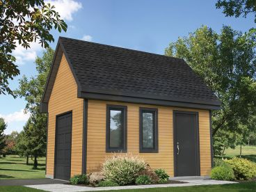 Utility Shed Plan, 072S-0031