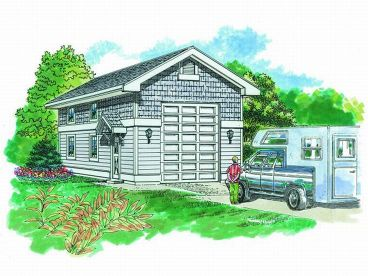RV Garage Plan, 033G-0016