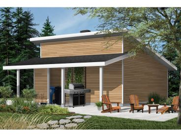 Modern 2-Car Garage Plan, 028G-0068