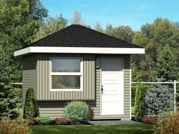 Garden Shed Plan, 072S-0024