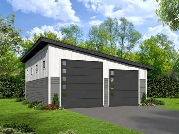 Modern RV Garage Plan, 062G-0111