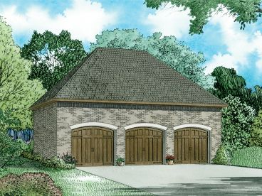 3-Car Garage Plan, 025G-0015
