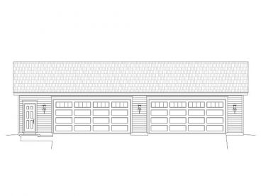 4-Car Garage Plan, 062G-0029