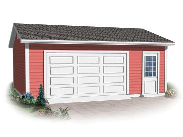 1-Car Garage Plan, 028G-0040