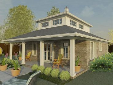 Pool House Plan, 006P-0033