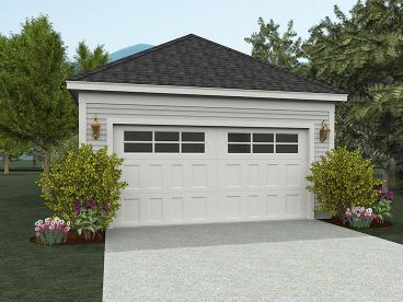 2-Car Garage Design, 062G-0009