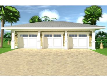 Three-Car Garage Plan, 052G-0022