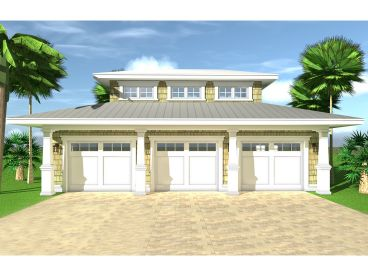 3-Car Garage Plan, 052G-0023