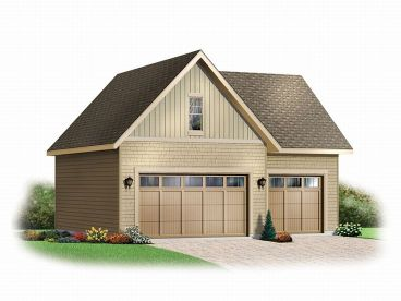 3-Car Garage Loft Plan, 028G-0027