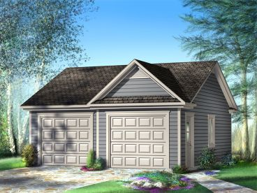 Traditional 2-Car Garage Plan, 072G-0020