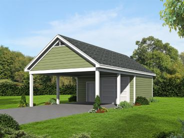 Double Carport with Workshop, 062G-0115