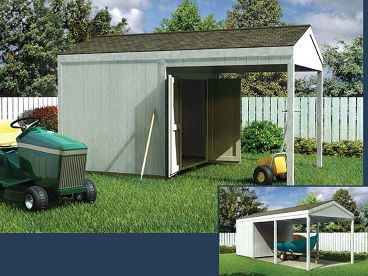 Storage Shed Plan, 047S-0009