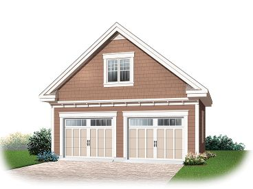 2-Car Garage Loft Plan, 028G-0038