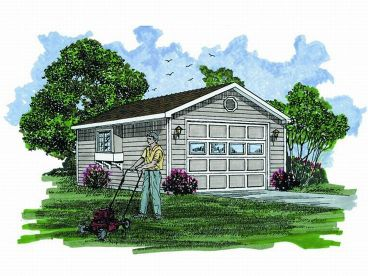 1-Car Garage Plan, 033G-0025