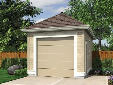 One Car Garage Plan, 034G-0016