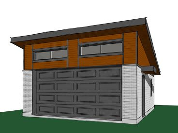 Modern 2-Car Garage Plan, 028G-0060