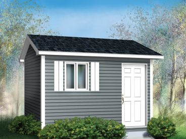 Garden Shed Plan, 072S-0005