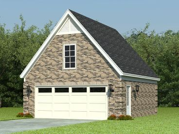 2-Car Garage with Loft, 006G-0067
