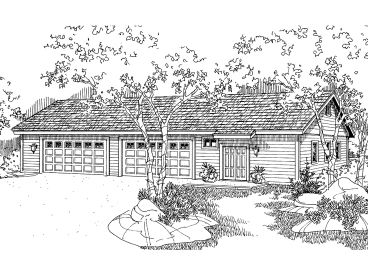 Detached Garage Plan, 051G-0033