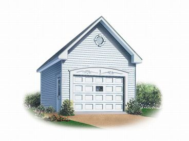 Detached 1-Car Garage Plan, 028G-0007