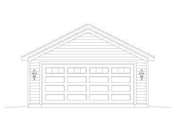 Detached 2-Car Garage, 006G-0127