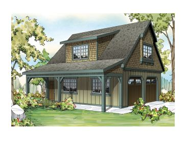 Two-Car Garage Loft Plan, 051G-0052