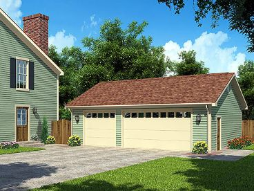 3-Car Garage Design, 047G-0022