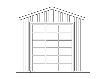 RV Garage Plan, 051G-0057