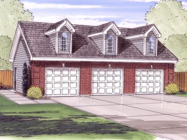 3 Car Garage Plan, 050G-0048
