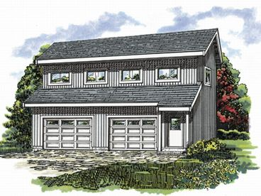 Garage Apartment Plan, 032G-0007