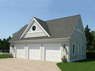 3-Car Garage Loft Plan, 009G-0015