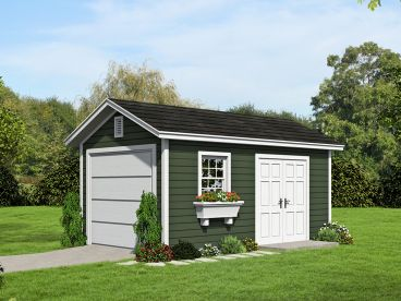 1-Car Garage Plan, 062G-0060