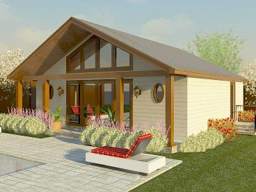 Pool House Plan, 006P-0022