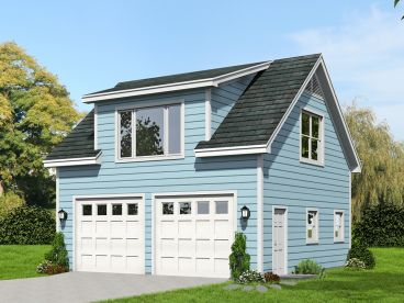 Garage Plan with Loft, 062G-0064