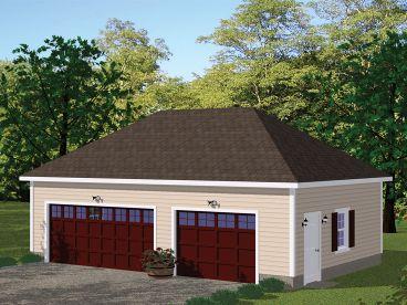 3 car garage plans three car garage designs the garage for Hip roof garages