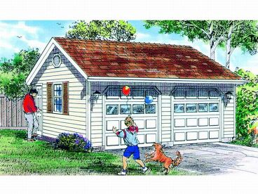 Two-Car Garage Plan, 033G-0013