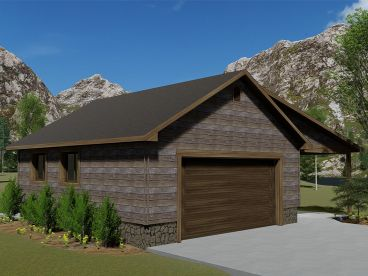 2-Car Garage Plan, 065G-0016