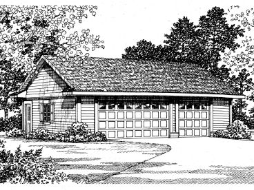 3-Car Garage Plan, 057G-0022