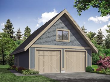 Garage Plan with Loft, 051G-0119