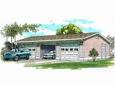 3-Car Garage Plan, 033G-0010