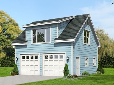 2-Car Garage Loft Plan, 062G-0063