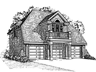Carriage House Plan, 054G-0006