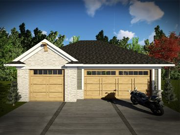 3-Car Garage Plan, 020G-0008