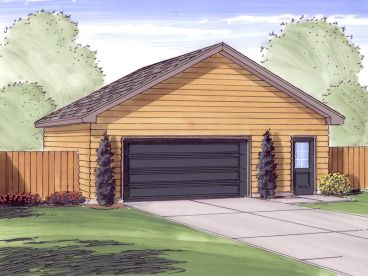 2 Car Garage Plan, 050G-0060
