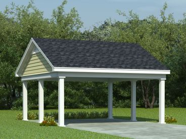 Double Carport Plan, 006G-0008