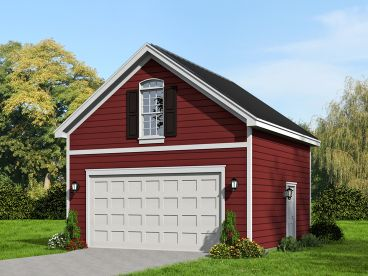 2-Car Garage Plan, 062G-0062