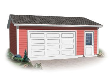 2-Car Garage Plan, 028G-0041