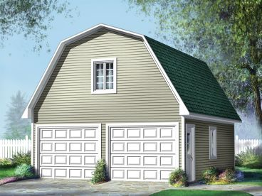 2-Car Garage Loft Plan, 072G-0015