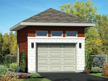 1-Car or 2-Car Garage Plan, 072G-0041